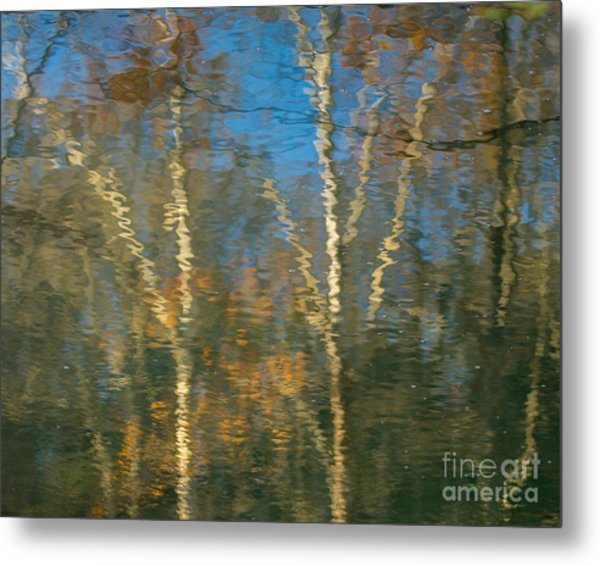 Oil Painting Trees Metal Print