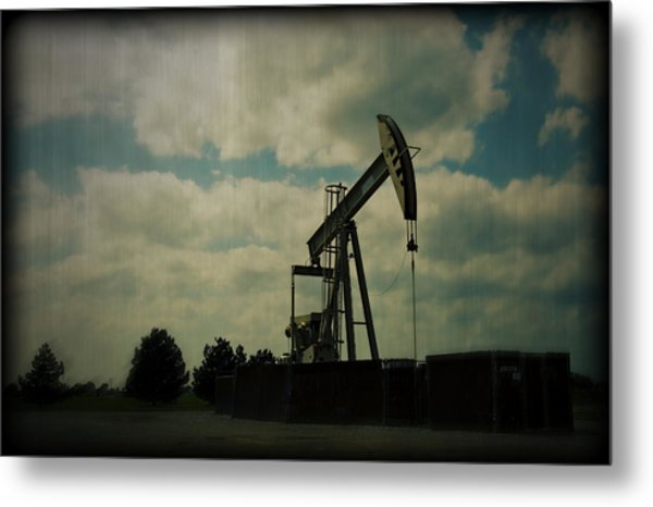 Oil Pumpjack Holga Metal Print