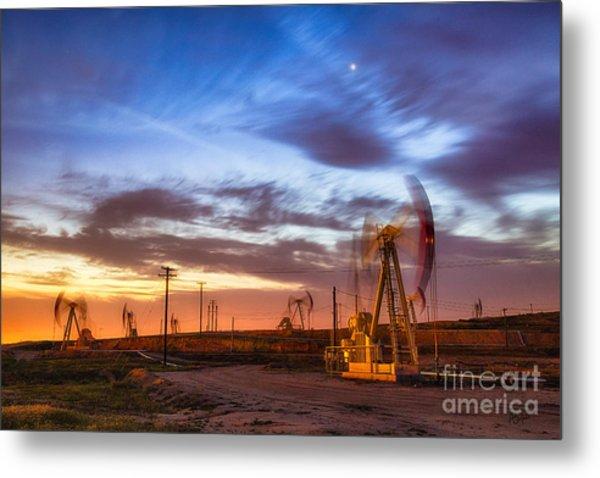 Oil Rigs 3 Metal Print