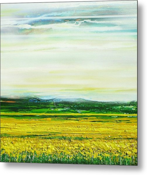 Oil Seed Rape Tyndale No3 Metal Print by Mike   Bell