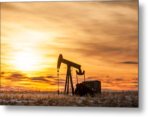 Oil Stained Sky Metal Print