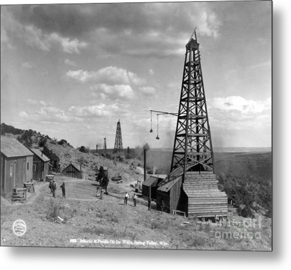 Oil Well, Wyoming, C1910 Metal Print