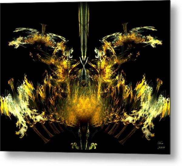 Oiseau De Feu Metal Print by Dom Creations