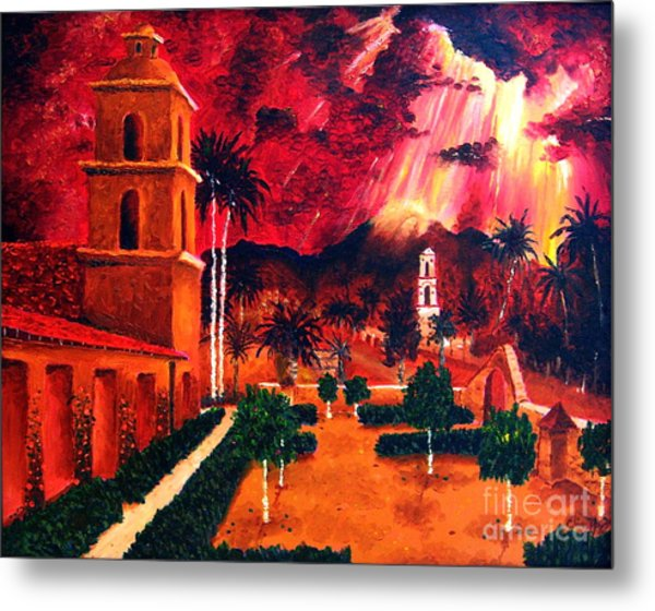 Ojai Red I Metal Print by Chris Haugen