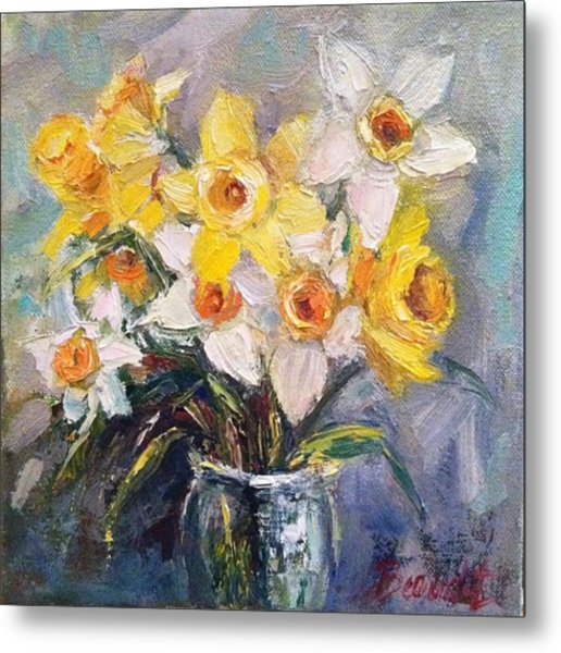 Ok Finished! #springflowers #daffodils Metal Print
