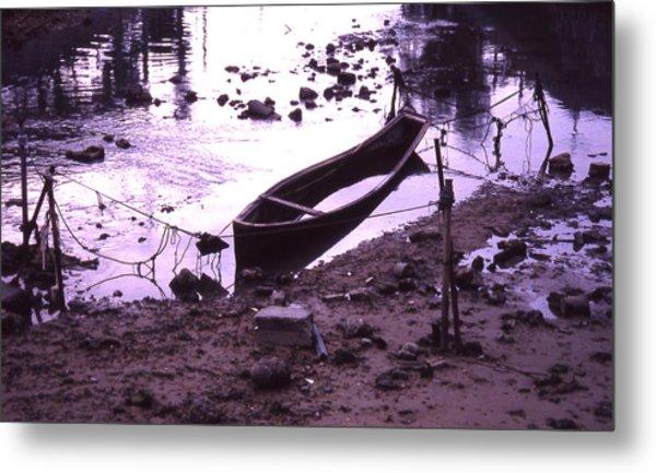 Okinawa Canoe Parking Metal Print by Curtis J Neeley Jr