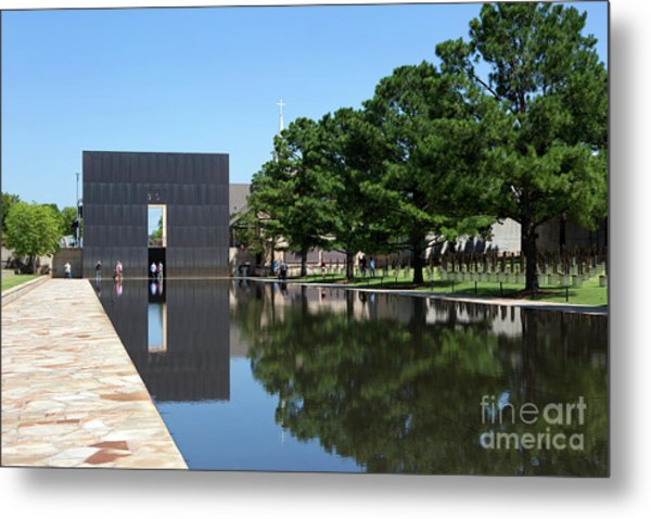Metal Print featuring the photograph Oklahoma City National Memorial Bombing by Steven Frame
