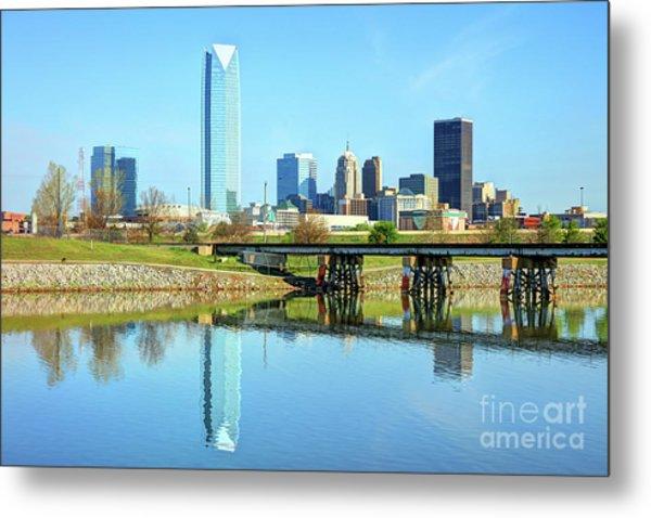 Oklahoma City Skyline Metal Print by Denis Tangney Jr