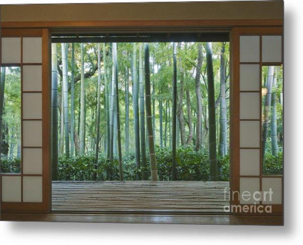 Okochi Sanso Villa Bamboo Garden Metal Print by Rob Tilley
