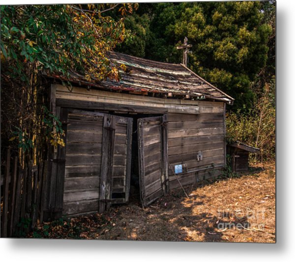 Old Abandoned Shed Sonoma County Metal Print
