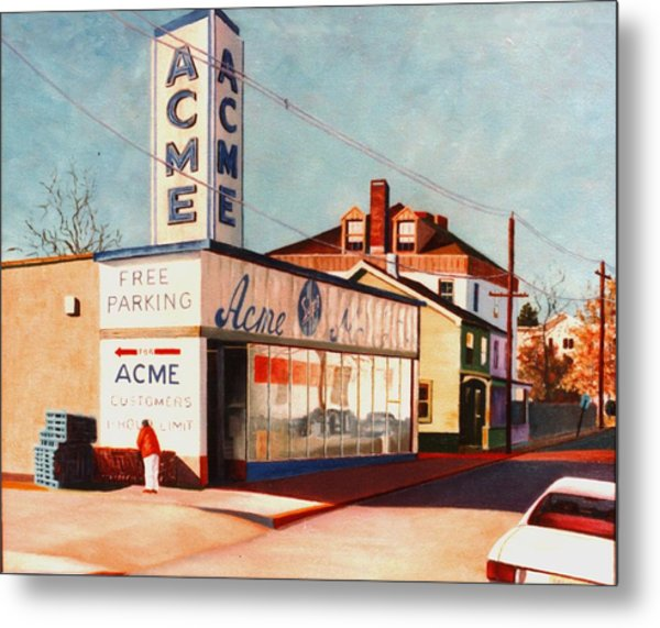 Metal Print featuring the painting Old Acme Lambertville Nj by Robert Henne