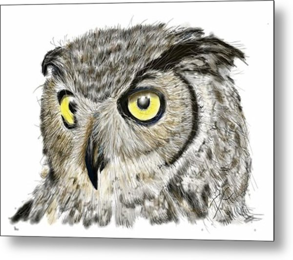 Metal Print featuring the digital art Old And Wise by Darren Cannell