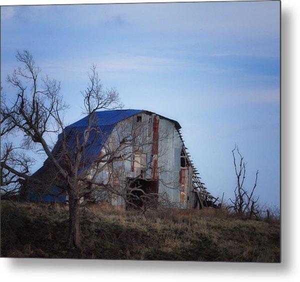 Old Barn At Hilltop Arkansas Metal Print