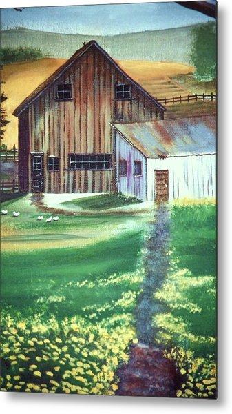 Old Barn Metal Print by Eileen Blair