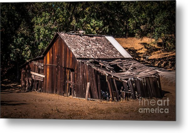 Old Barn River Road Sonoma County Metal Print