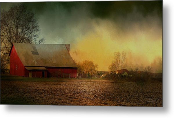 Old Barn With Charm Metal Print