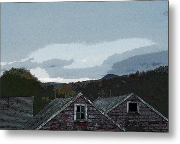 Old Barns Metal Print