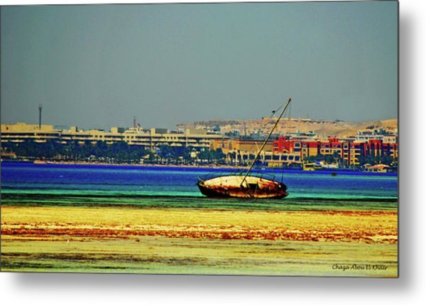 Old Barque Metal Print by Chaza Abou El Khair