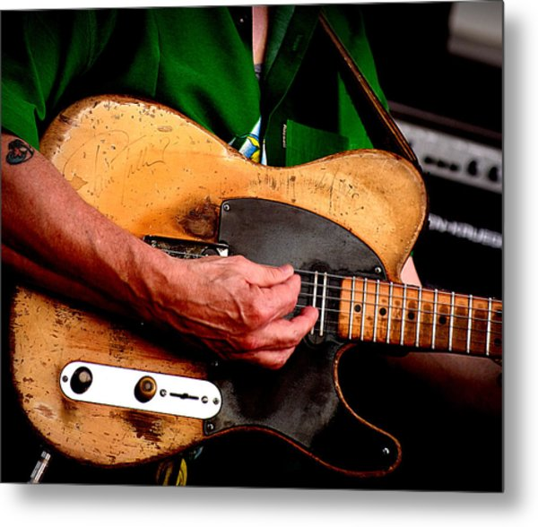 Old Blonde Tele Metal Print