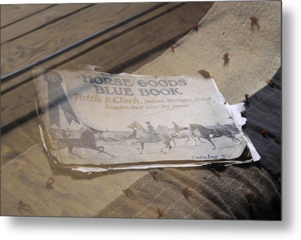 Old Blue Book Metal Print by Viktor Savchenko