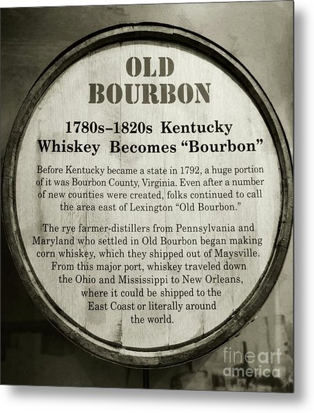 Metal Print featuring the photograph Old Bourbon by Mel Steinhauer