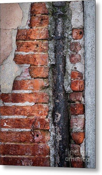 Old Brick Wall Fragment Metal Print