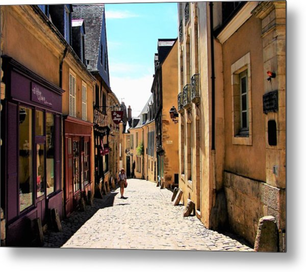 Metal Print featuring the photograph Old Buildings In France by Cristina Stefan