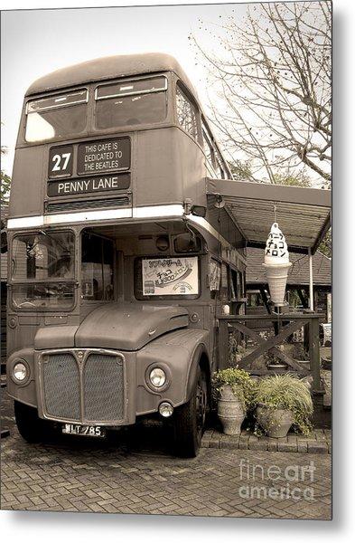 Old Bus Cafe Metal Print