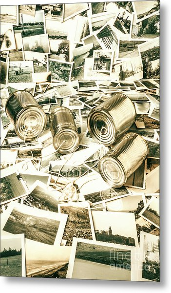 Old Business Wires Metal Print