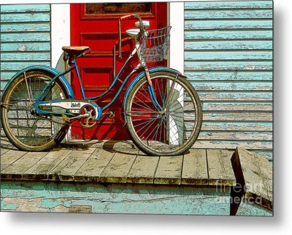 Old Bicycle. Warren, Vermont Metal Print