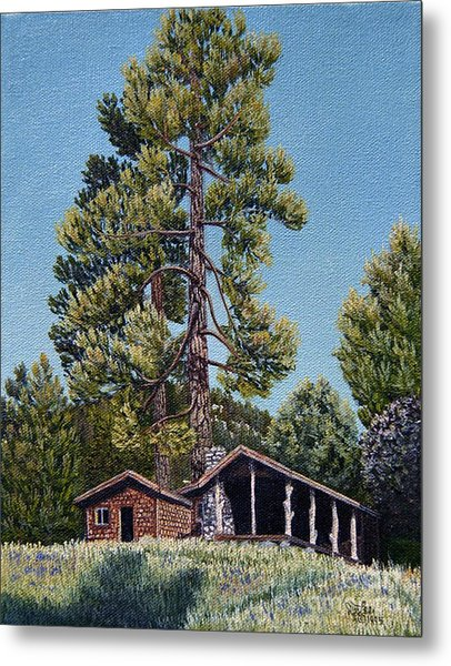 Old Cabin In The Pines Metal Print by Jiji Lee