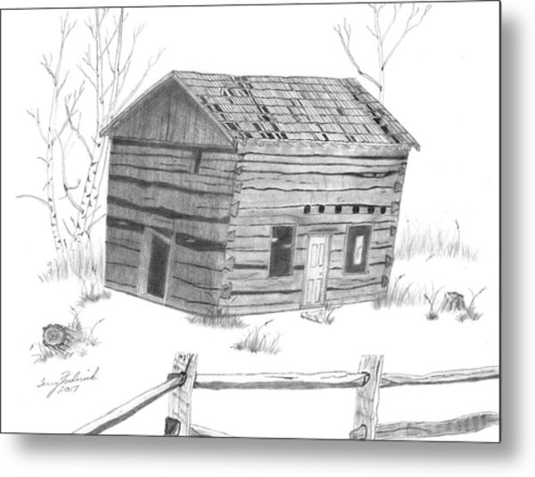 Old Cabin Metal Print