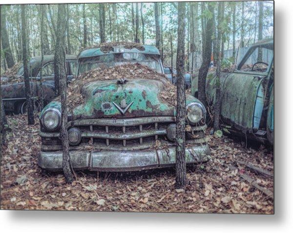 Old Caddy Metal Print