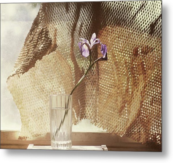 Old Camp Window Metal Print