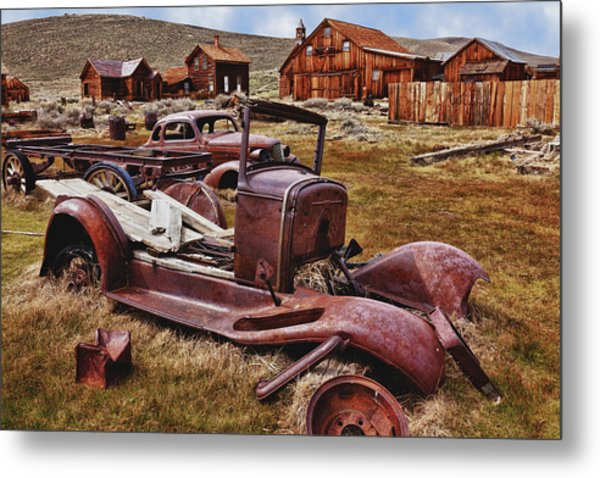 Old Cars Bodie Metal Print