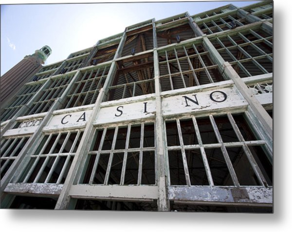 Old Casino Closeup Metal Print