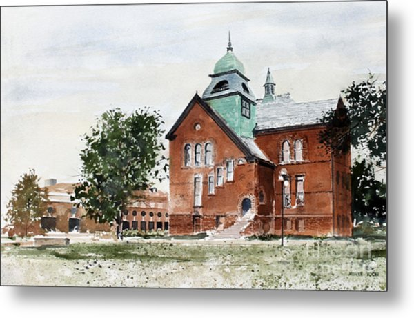 Oklahoma State University Old Central Metal Print