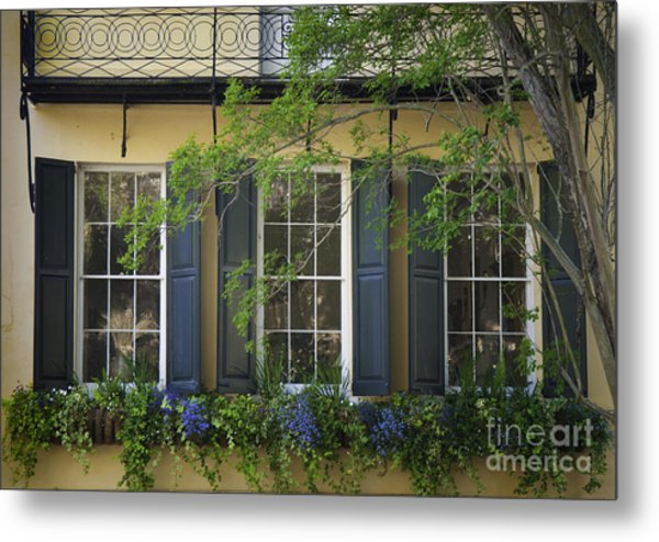 Old Charleston Window  Metal Print