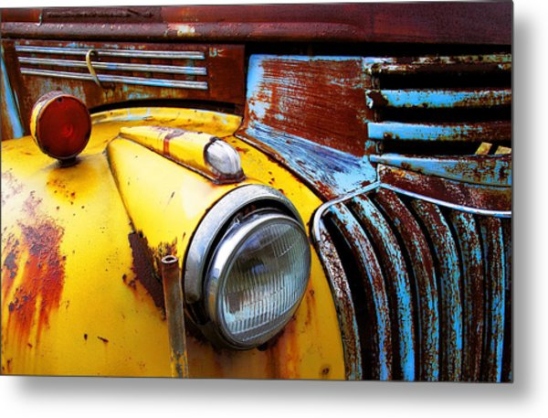 Old Chev Truck On Hwy 69 Metal Print