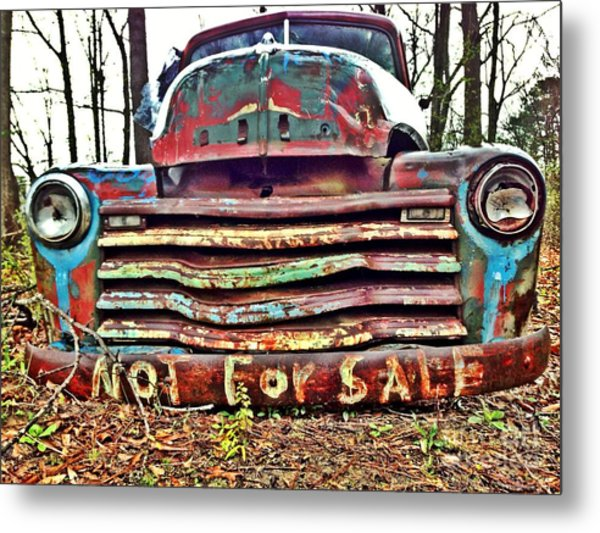 Old Chevy Truck With Graffiti Metal Print