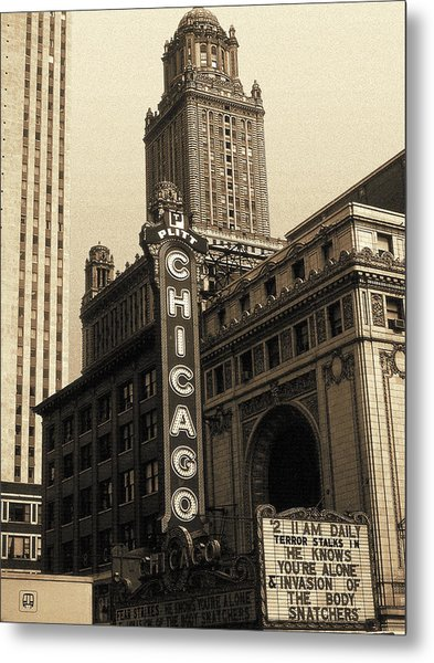 Old Chicago Theater - Vintage Art Metal Print