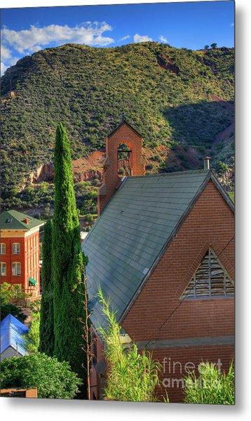 Old Church In Bisbee Metal Print