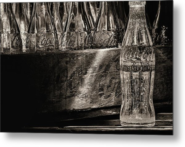 Old Coke Sepia Metal Print by JC Findley