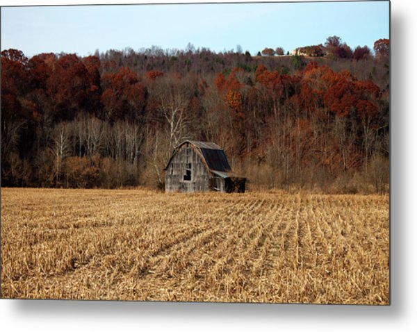 Old Country Barn In Autumn #1 Metal Print