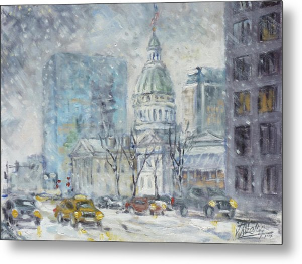Old Courthouse From N 4th St. St.louis Metal Print