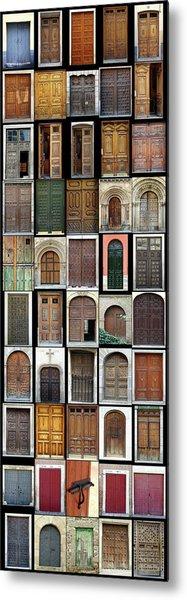 Old Doors Metal Print by Frank Tschakert