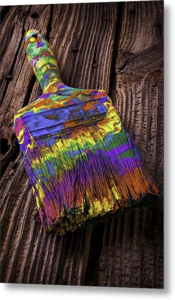 Old Dried Paintbrush Metal Print