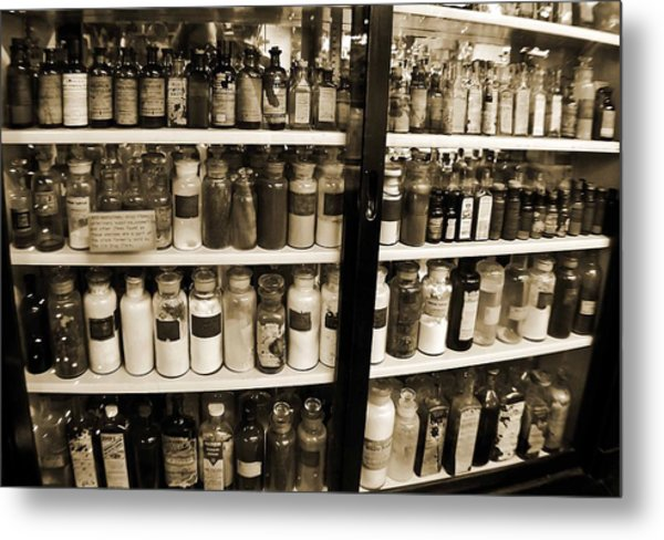 Old Drug Store Goods Metal Print