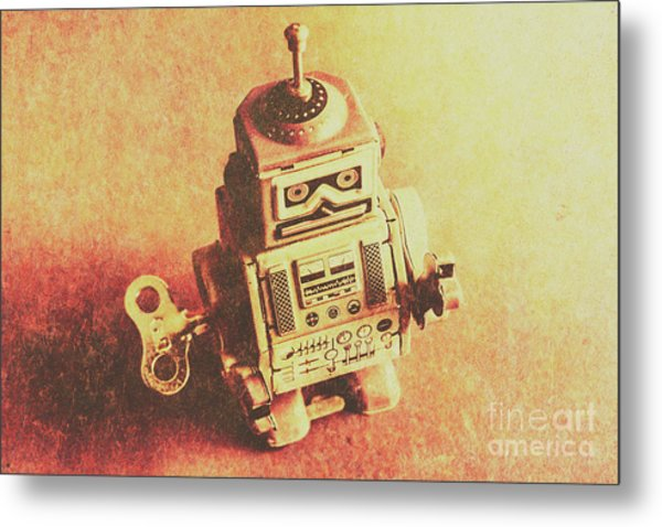 Old Electric Robot Metal Print
