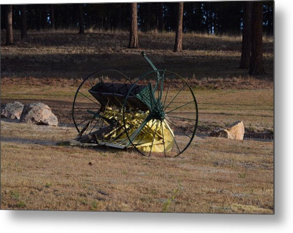 Old Farm Implement Lake George Co Metal Print